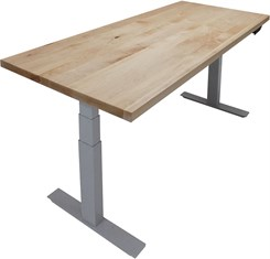 "66""L x 30""W Solid Wood Top Electric Lift Height Adjustable Table"