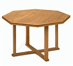 "42"" Solid Oak Octagonal Conference Table"