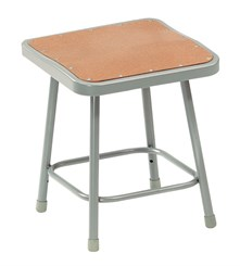"Square Fixed Height Heavy-Duty Lab Stools - 18"" H Lab Stool - 300-lb Weight Capacity"