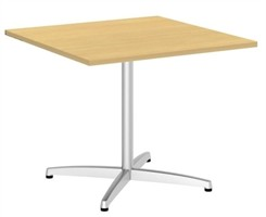 "36"" Quickship Square Table w/Silver X Base"