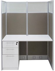 "48""W x 24""D x 67""H Value Series Starter Cubicle"