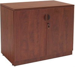 Cherry Laminate 2-Door Locking Storage Cabinet