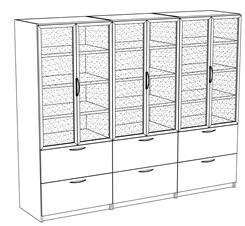 Reception Storage Wall Unit