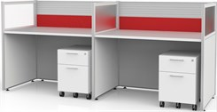 "Sync Custom Cubicles - 43""H 2-Person Bench Workstation"