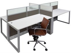 TrendSpaces Value Cubicle Series - 4 Person Cluster Cubicle