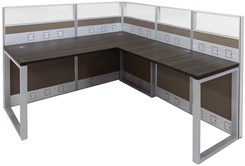TrendSpaces Premium Cubicle Series - L-Shaped Cubicle