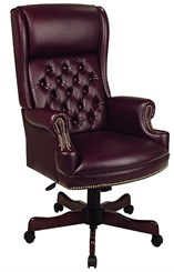 Traditional High Back Chair with Headrest