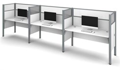 Triple Side by Side Workstation w/Acrylic Glass