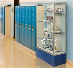 "72""H 4'W Spirit Trophy Locking Display Case - See Other Sizes"