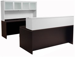 Mocha/White U-Shaped Reception Desk
