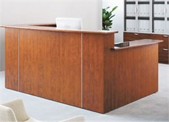 Custom Multi-Level U-Reception Desk w/Left Side Low Counter