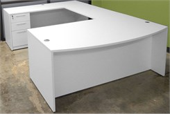 White U-Shaped Workstation