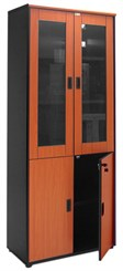 Glass Door Wall Unit - Cherry