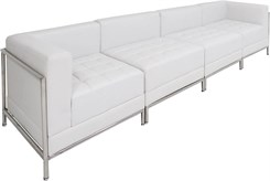 White Tufted Modular 4-Seat Sofa