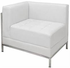White Tufted Modular Corner Chair