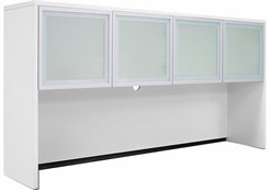 White Frosted Glass Door Hutch