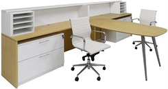 WorkTrend 2-Person Low Rise Workstation Desk