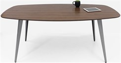 WorkTrend 6' Tapered Angled Steel Leg Boat Shaped Conference Table - 7 Colors!