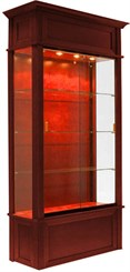 "82""H Wood Veneer Traditional Locking Display Case"