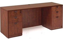 Cherry Laminate Credenza w/6 Drawers