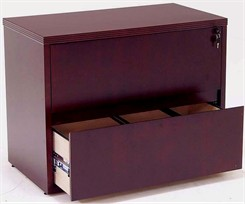 Mahogany Veneer 2-Drawer Lateral File